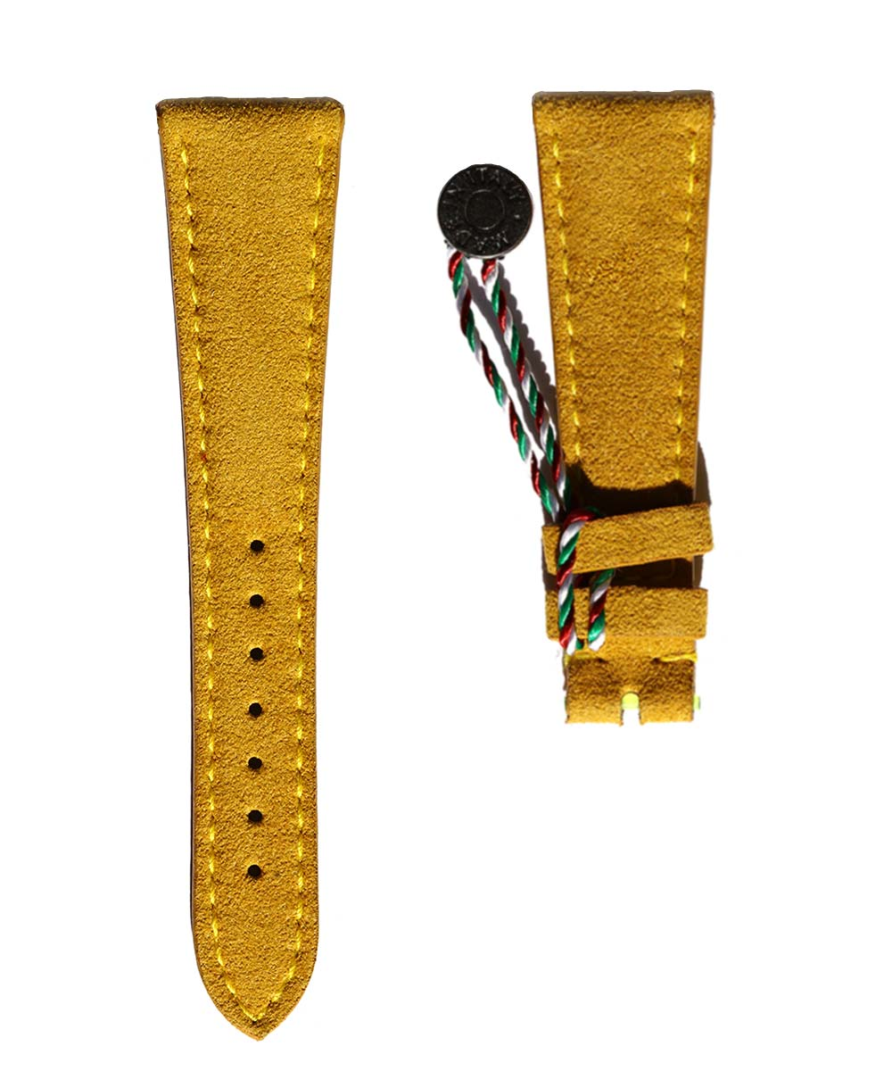 N2 Yellow Gold Alcantara strap General style