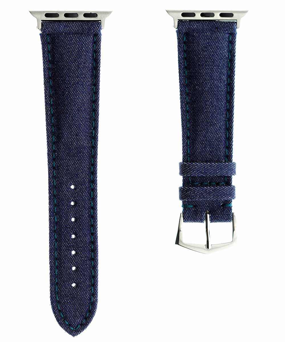 Blue Denim strap with Indigo stitching & Alcantara® lining for 40mm, 38mm case (Apple Watch Series 1, 2 & 3, 4)