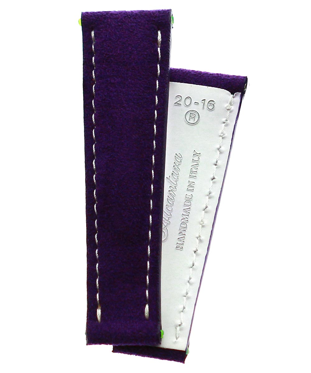 Violet Alcantara strap 20mm for Rolex Daytona style timepieces