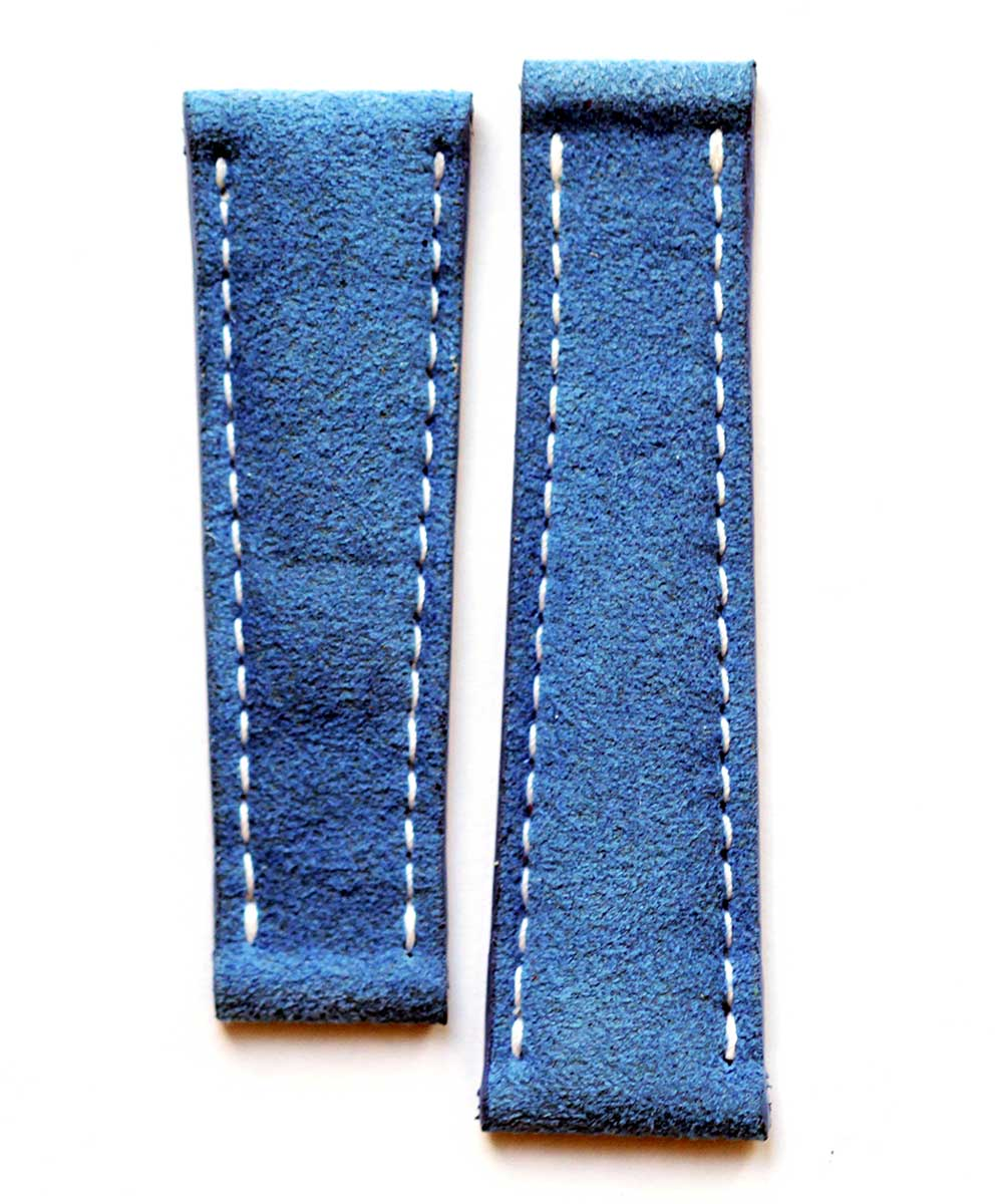 Blue Jeans Alcantara watch strap 20 mm Rolex Daytoa stye