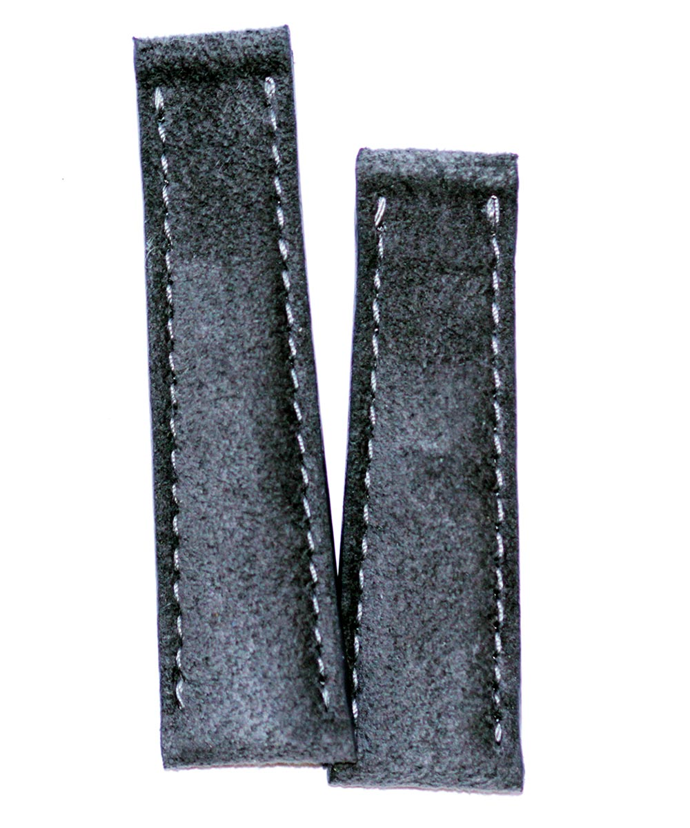 Milano Grey Alcantara strap 20mm for Rolex Daytona style timepieces