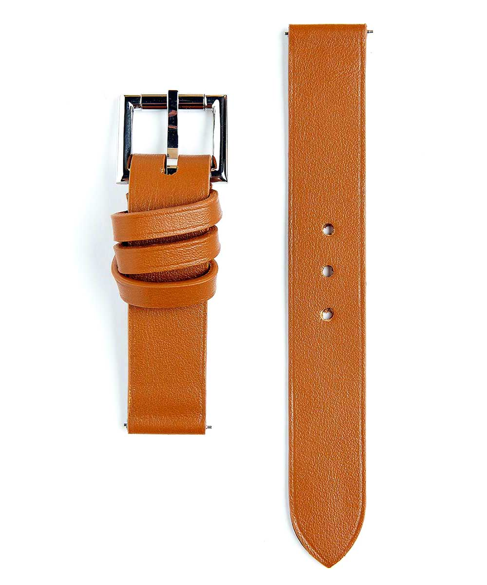 Racer watch band in Honey Calf Leather