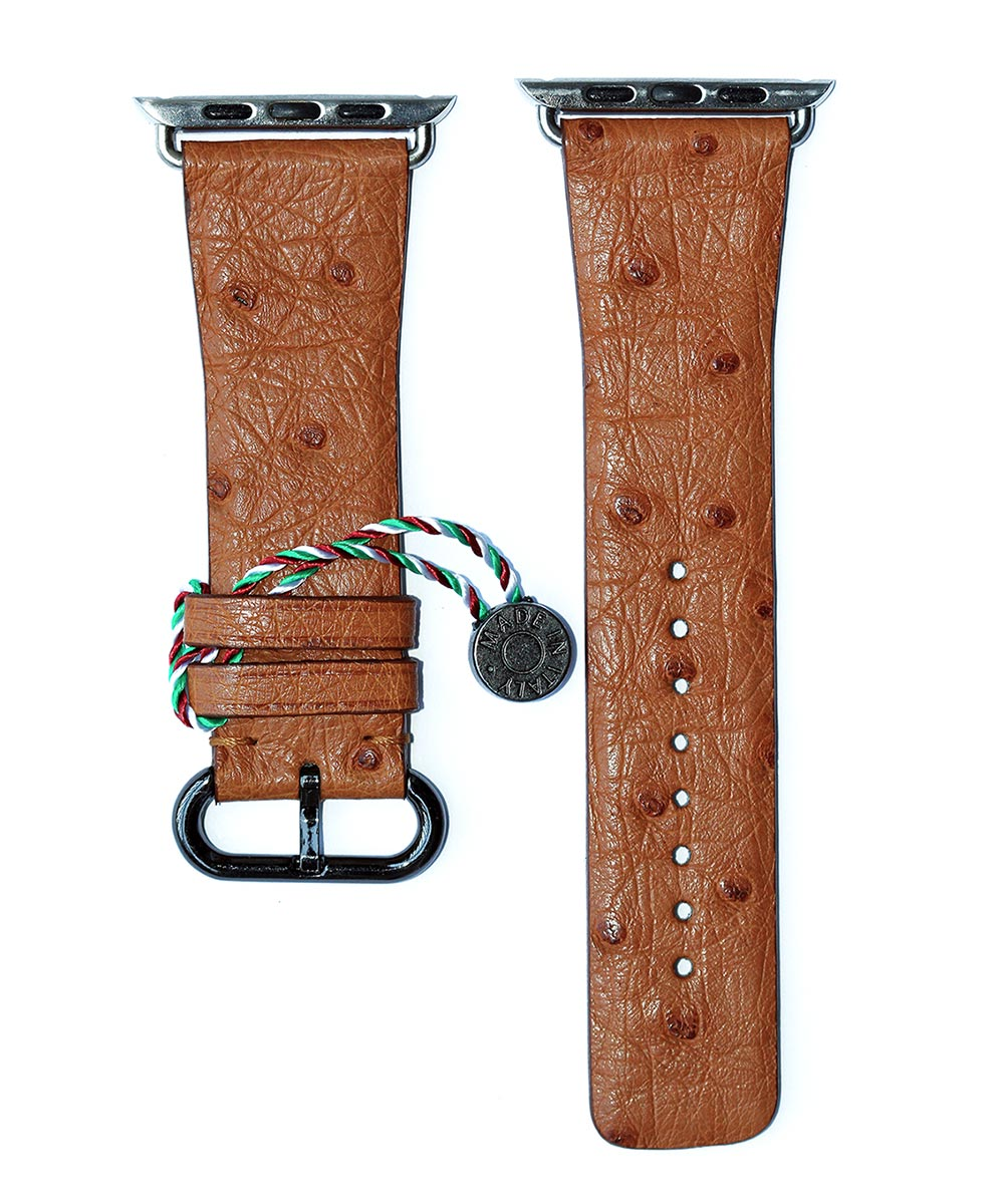 Beige Ostrich Apple Watch Strap 42mm