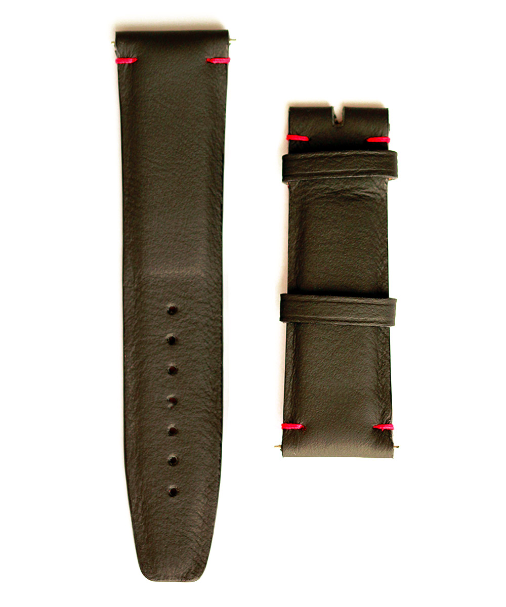 Watch strap in Black Connolly leather