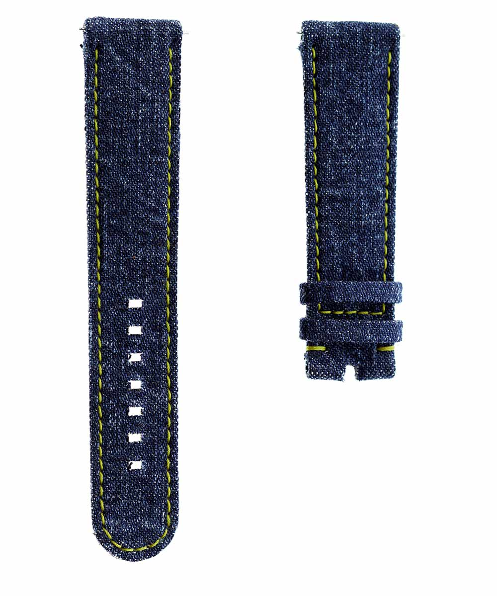 Japanese Denim Smart Watch strap 22mm / DISCO / Yellow Stitching
