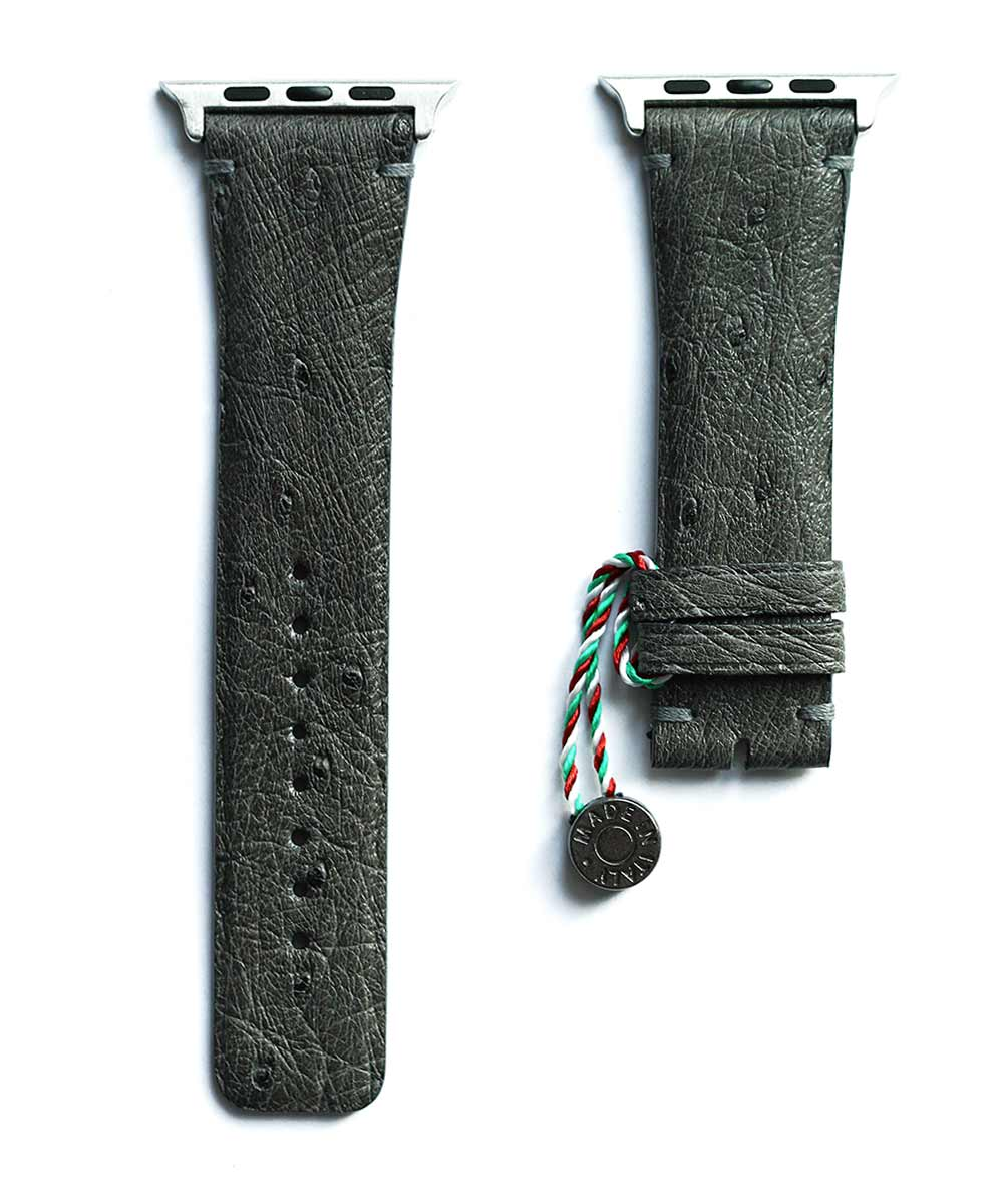 Mimetic Camouflage Grey Ostrich strap for Apple Watch 44mm, 42 mm (All Series)