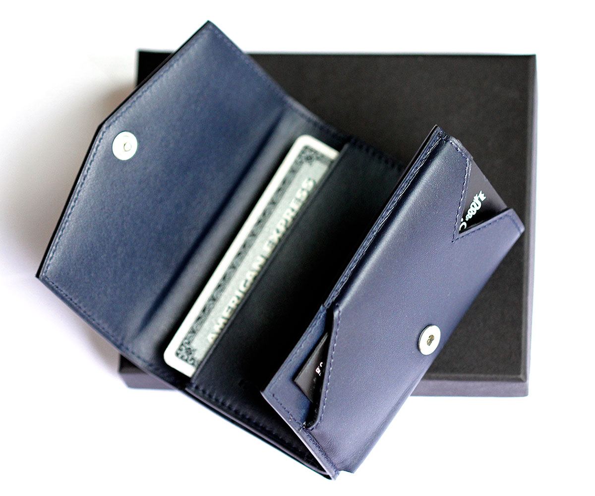 SMART wallet in Superior Navy Calf leather
