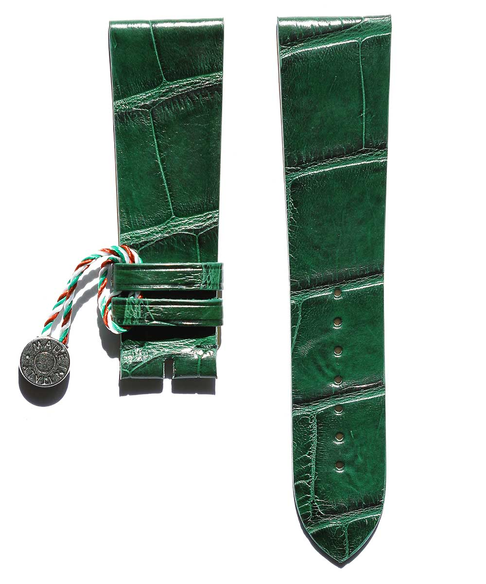 Emerald Green Alligator Leather Strap 24mm General Style