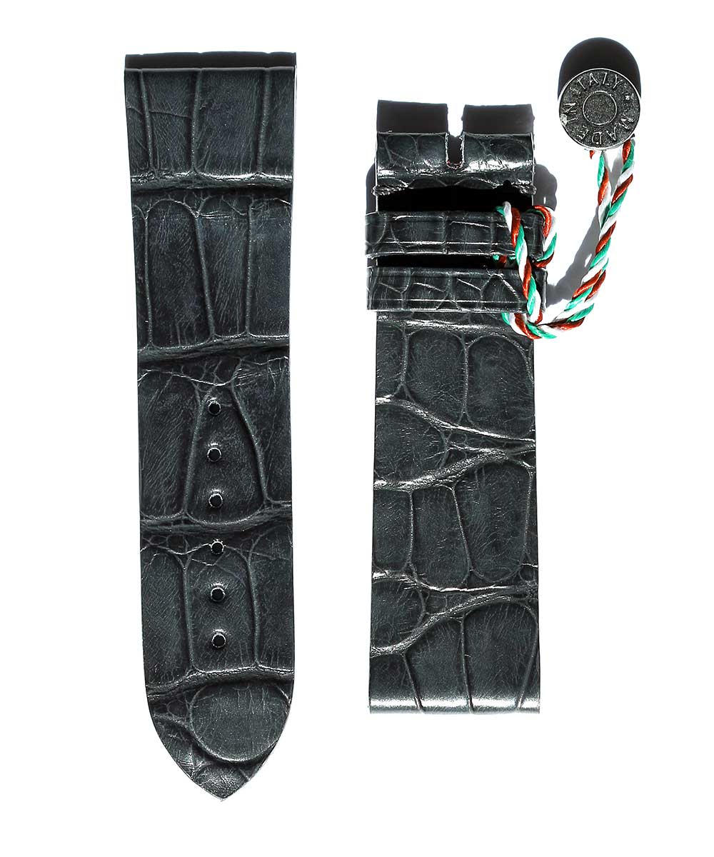 By Order. Montblanc Worldtimer style watch strap 22mm in Alligator Leather