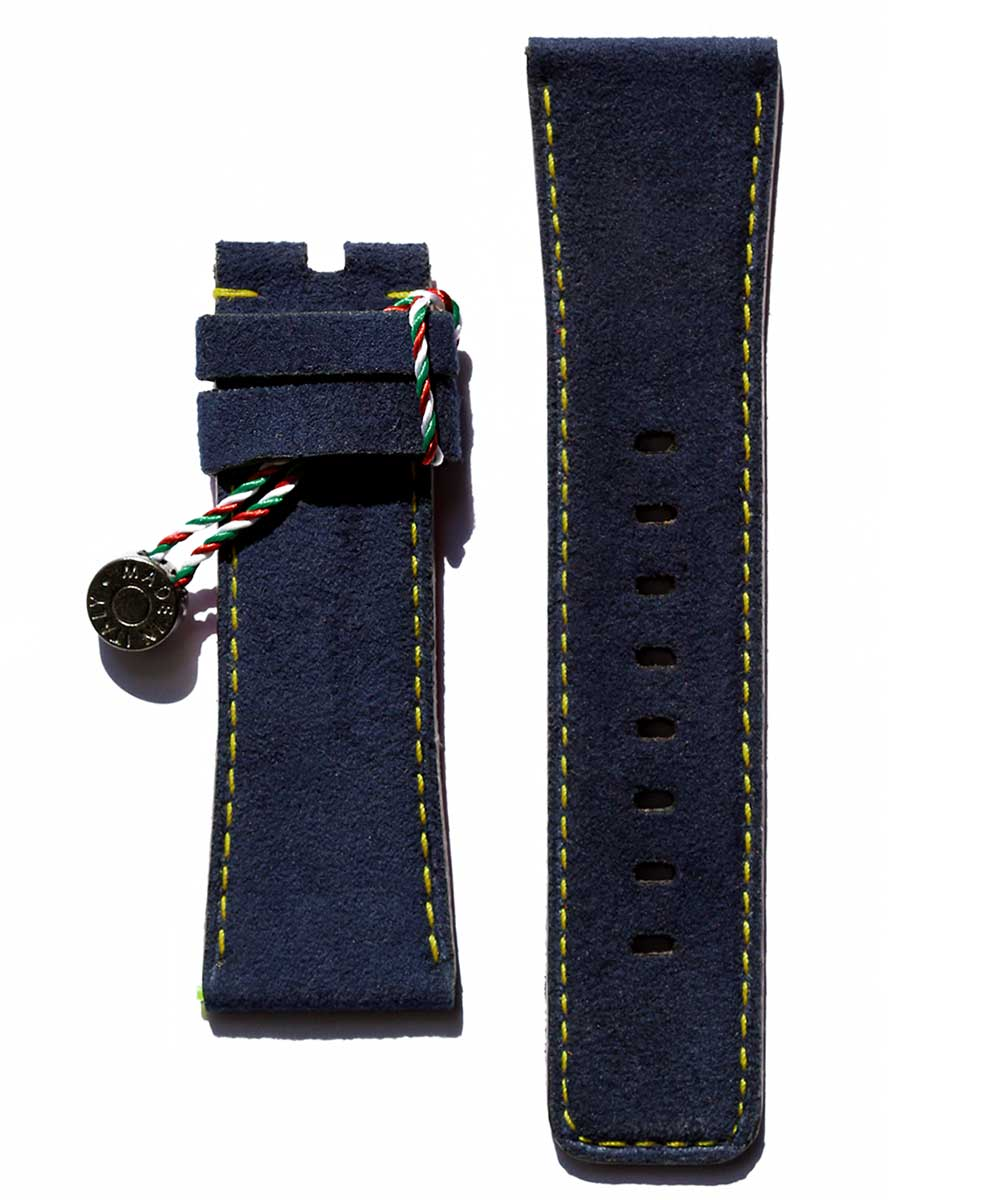 SEVENFRIDAY style Blue Alcantara watch strap 28mm