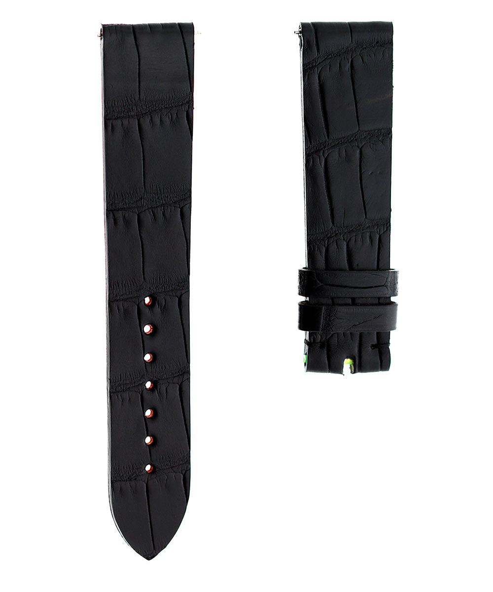 Ready-to-Wear 20mm Black Alligator leather strap. Quick release
