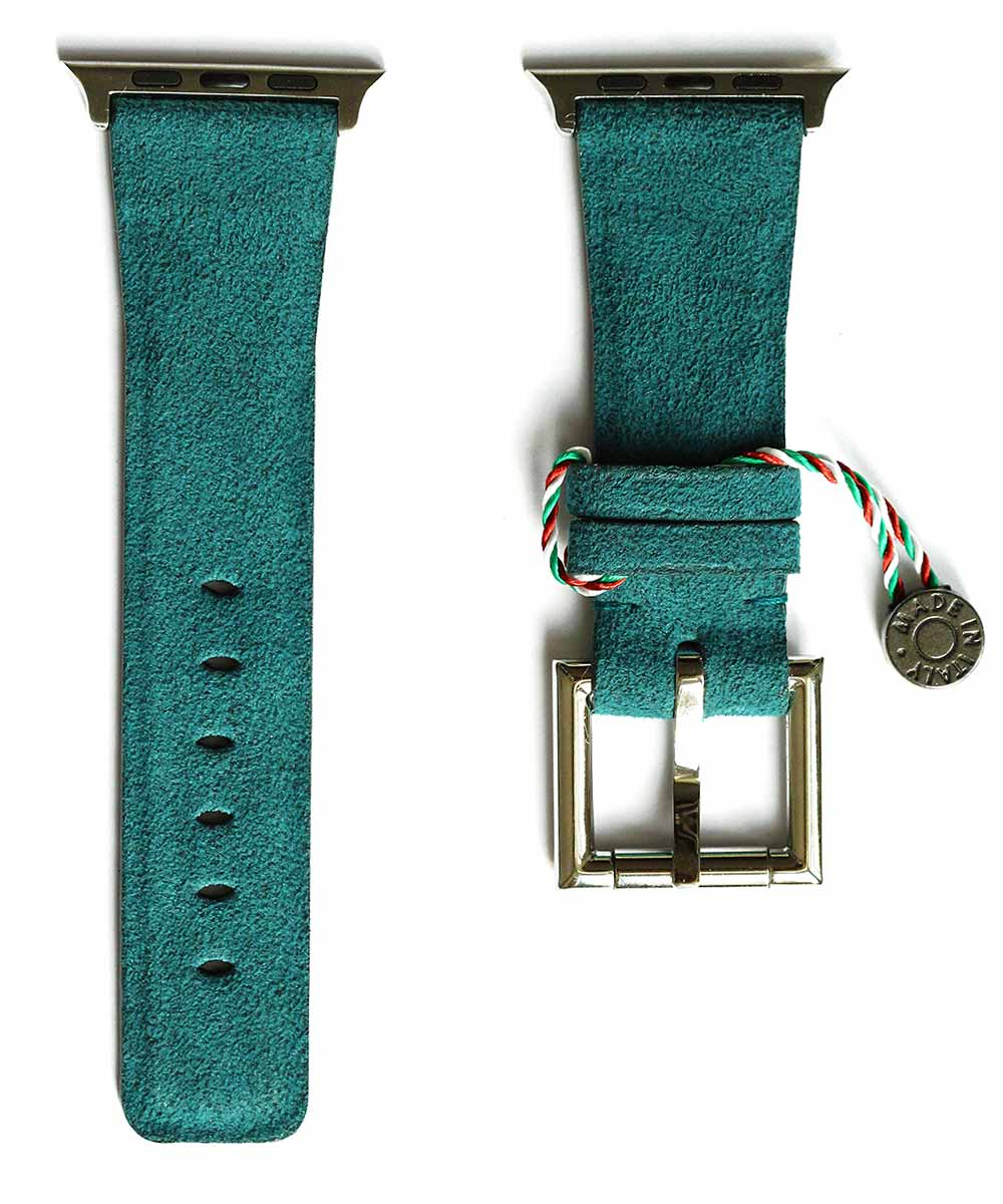Indigo Alcantara Apple Watch strap with Fixed Buckle / Vegan (All Sized & Generations)