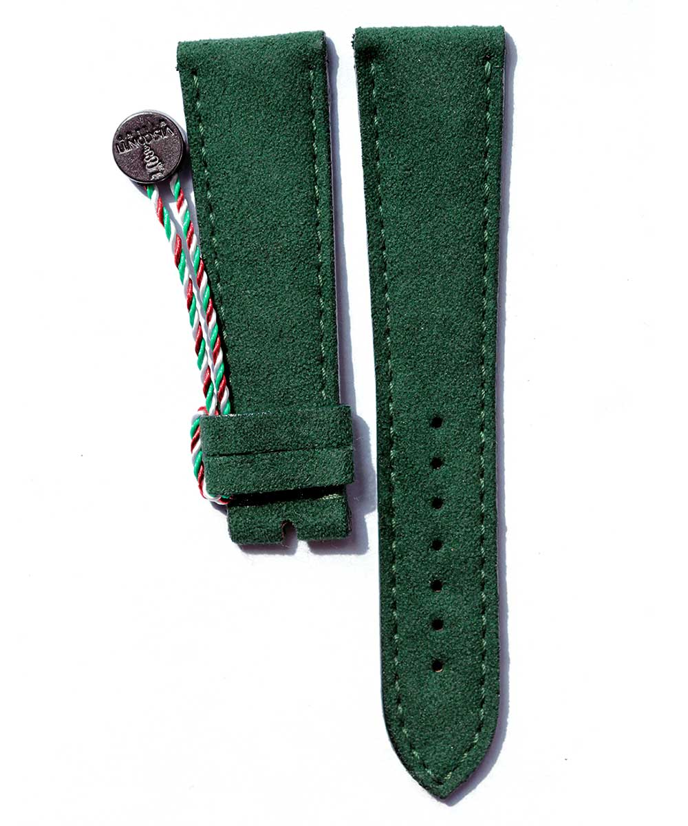 Deep Green Alcantara® Strap 20mm, 21mm, 22mm