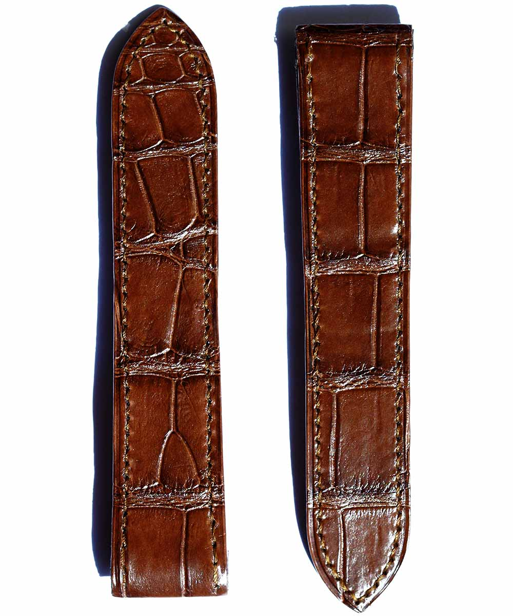 Strap 23mm in Brown Matte Alligator Leather for Cartier Santos 100 XL