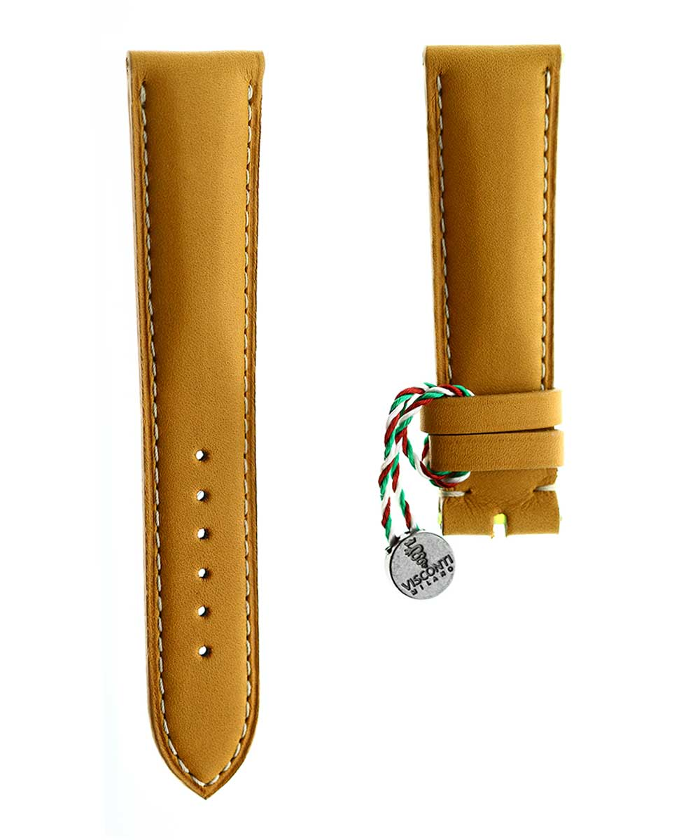 Ready-to-Wear 21mm Chopard style Beige Calf Leather strap