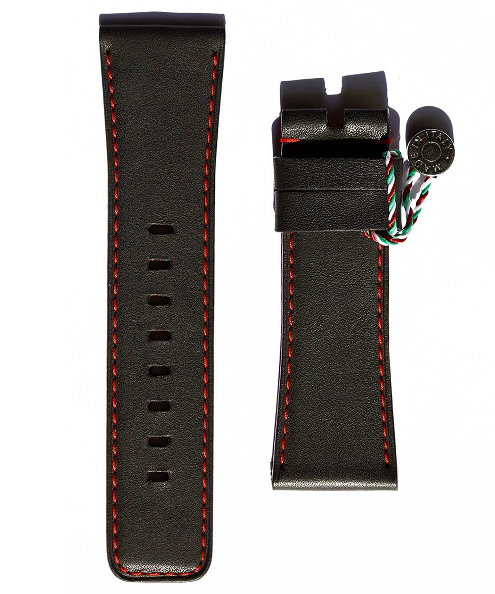 SEVENFRIDAY style Black PREMIUM Calf leather watch strap 28mm