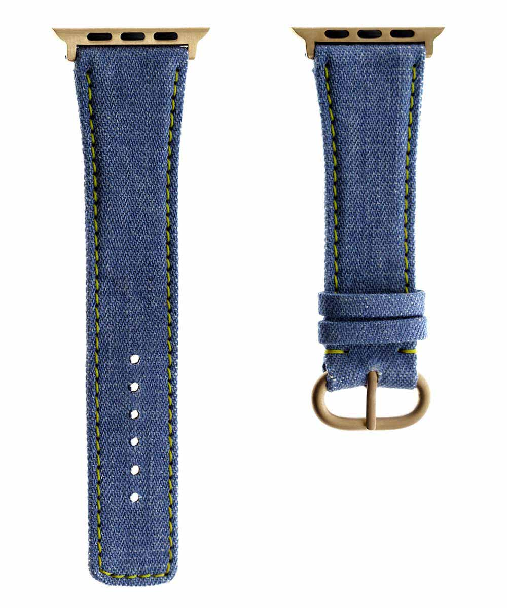 Japanese Denim Strap for 44mm, 42mm case (Apple Watch All Series) / LAMBADA / YELLOW STITCHING