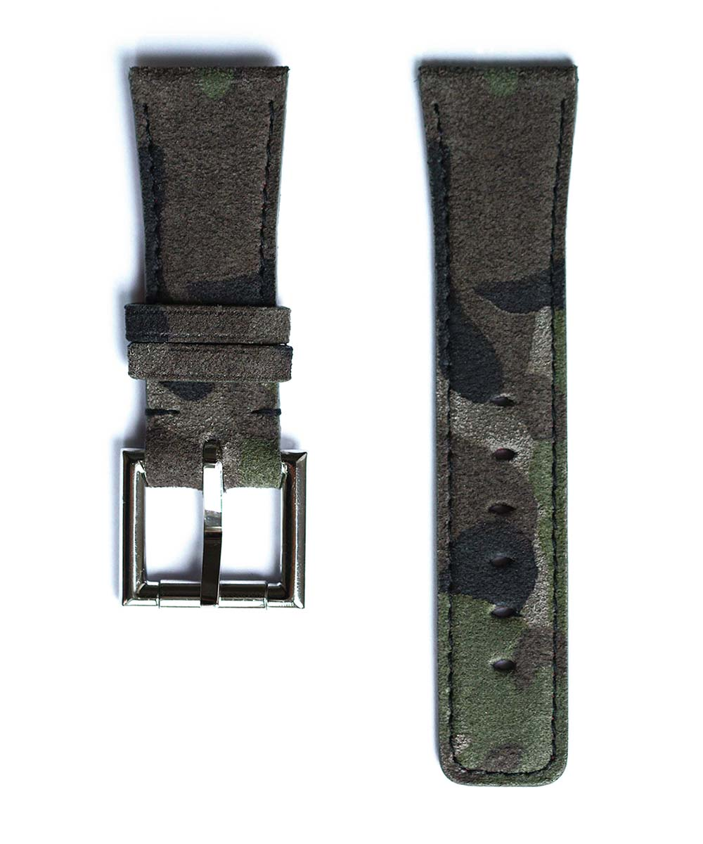 Strap in Camouflage / Mimetic suede leather with Fixed Buckle for 42mm case (Apple Watch Series 1, 2 & 3)