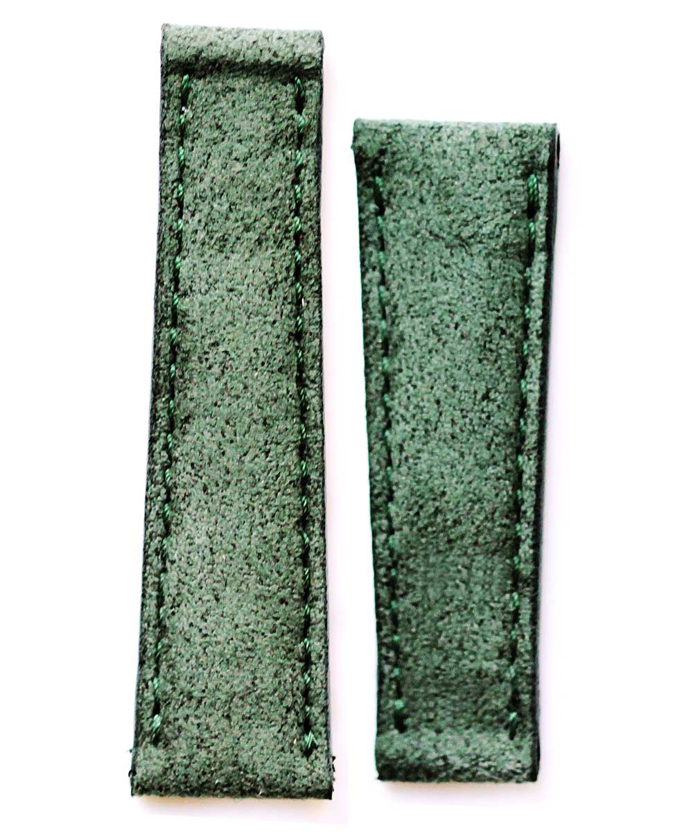 N6 Marble Green Alcantara watch band 20mm for Rolex Daytona Style timepieces
