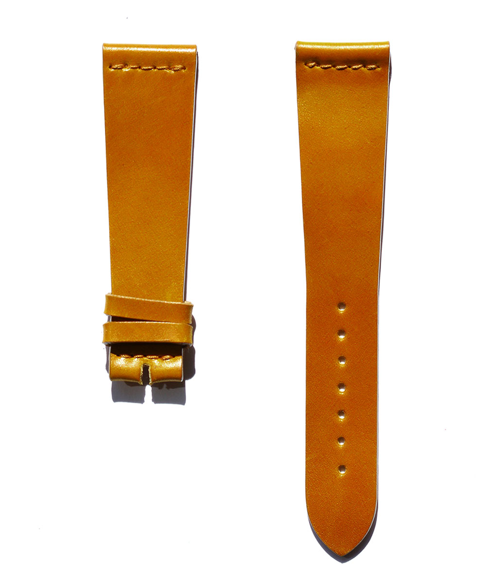 Ultra slim Strap 21mm in Natural Shell Cordovan Leather