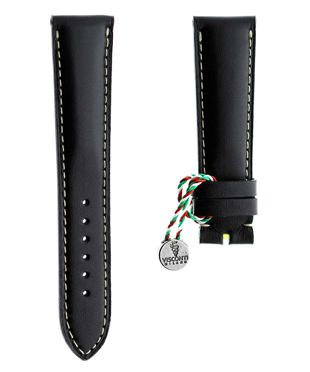 Ready-to-Wear 21mm Chopard style Black Calf Leather strap