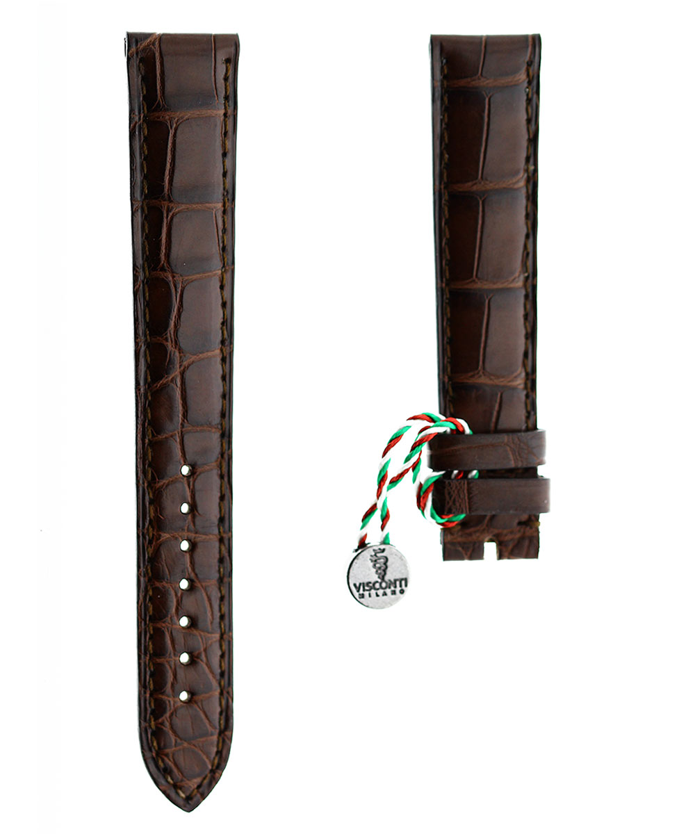 Ready-to-Wear 18mm Brown Alligator leather strap
