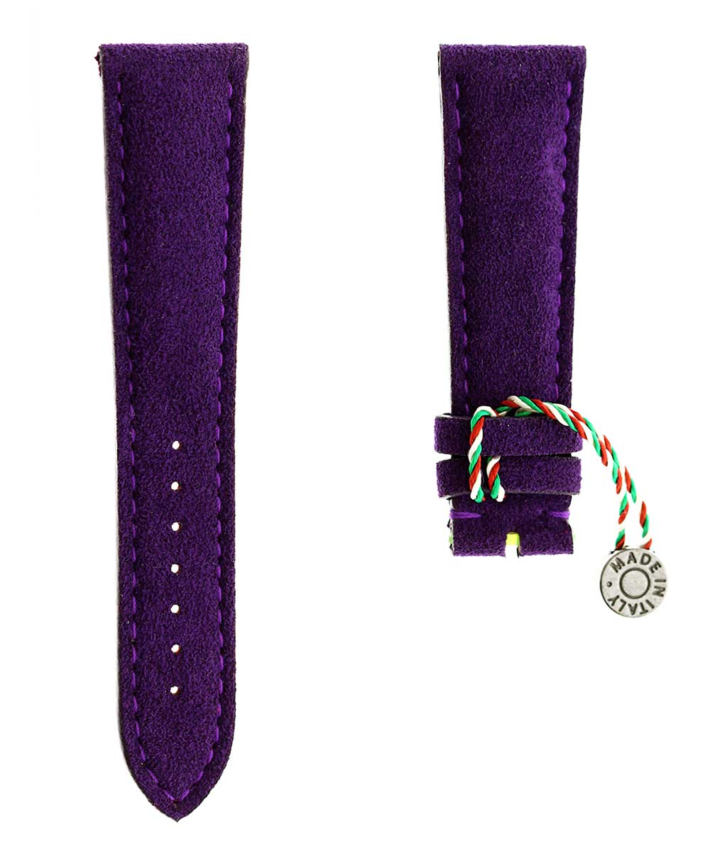 N12 Violet Alcantara watch strap 18mm, 20mm, 21mm, 22mm