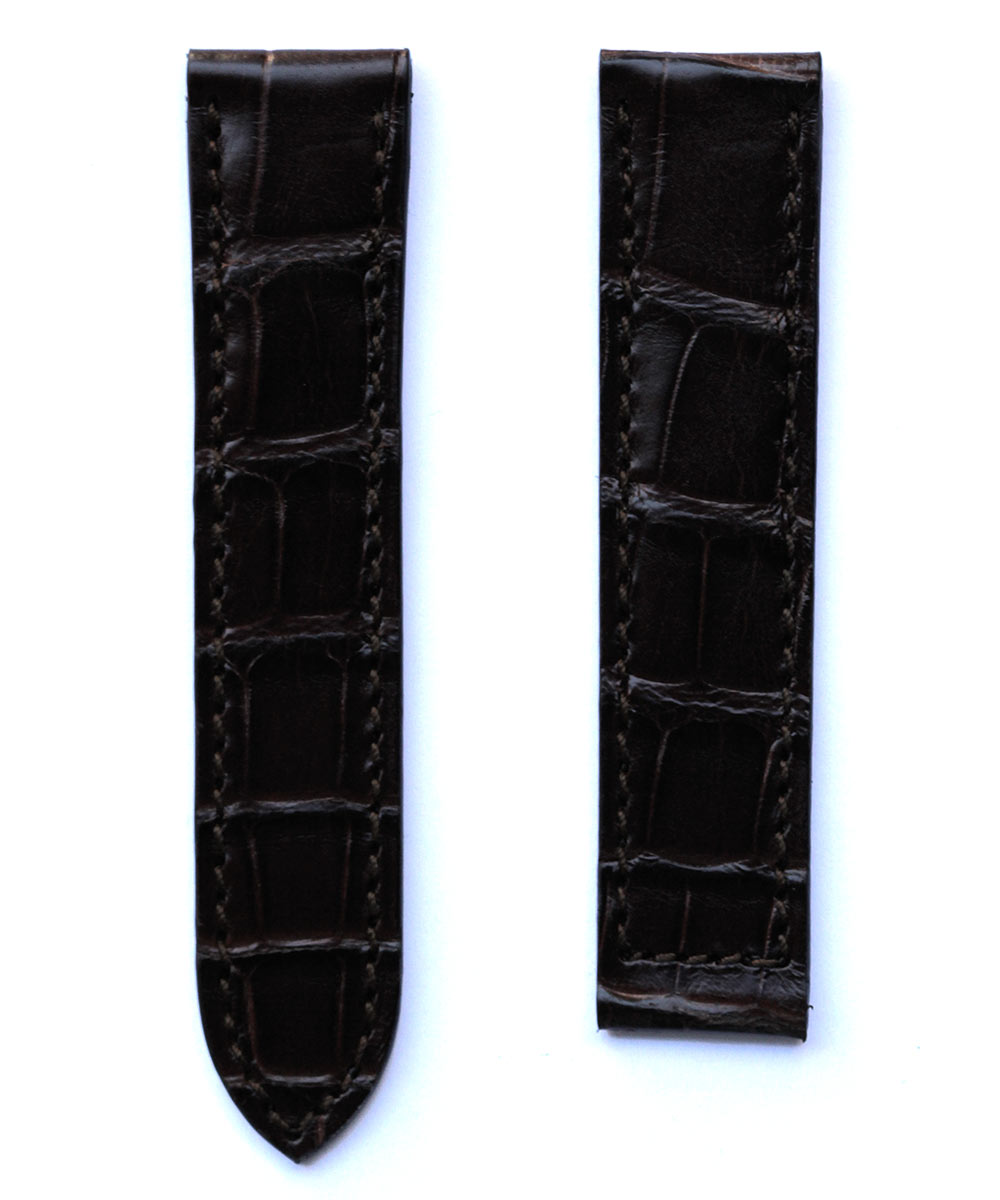 Cartier Must de Cartier style strap in Brown Alligator leather