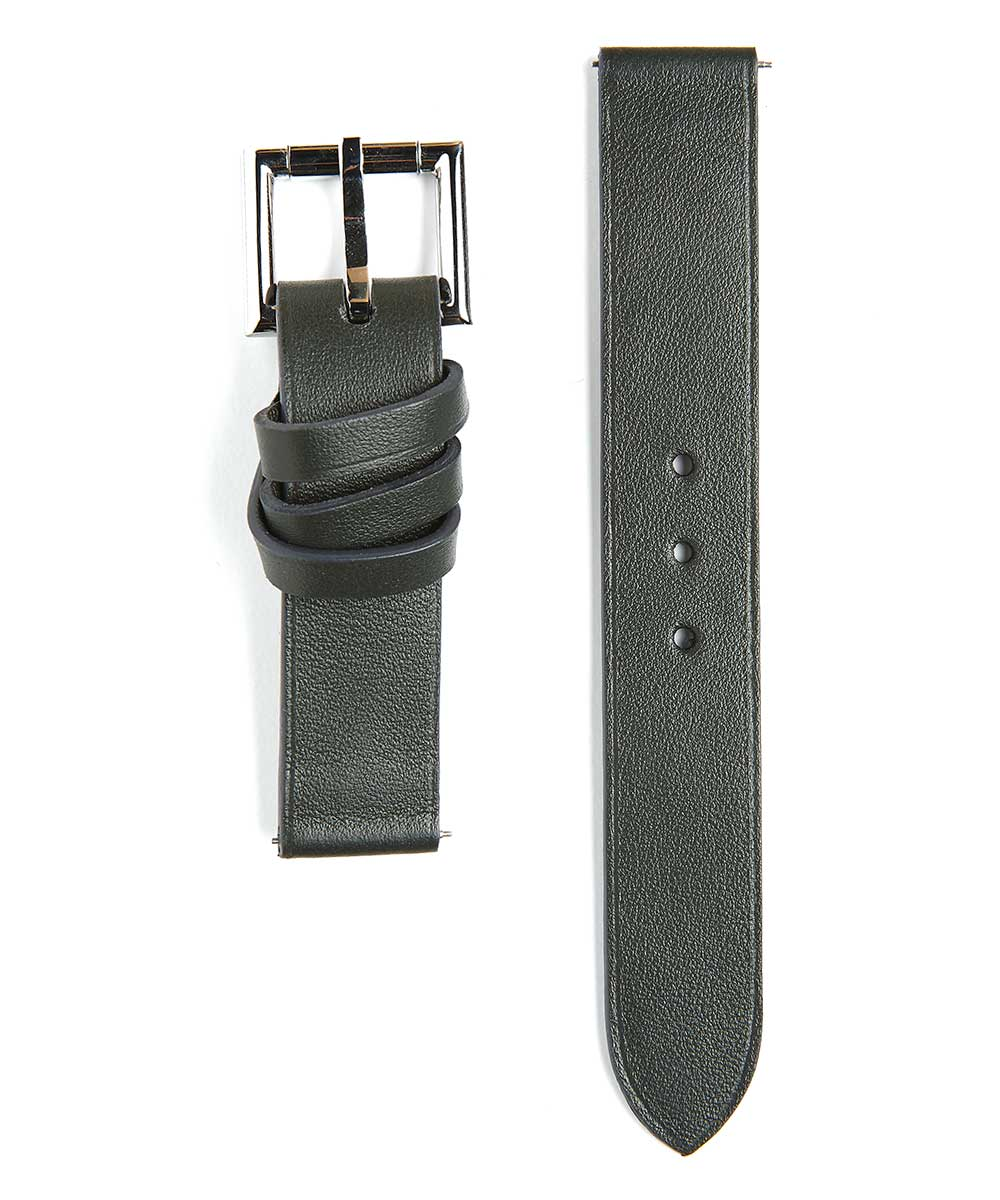 Racer watch band in Grey Calf