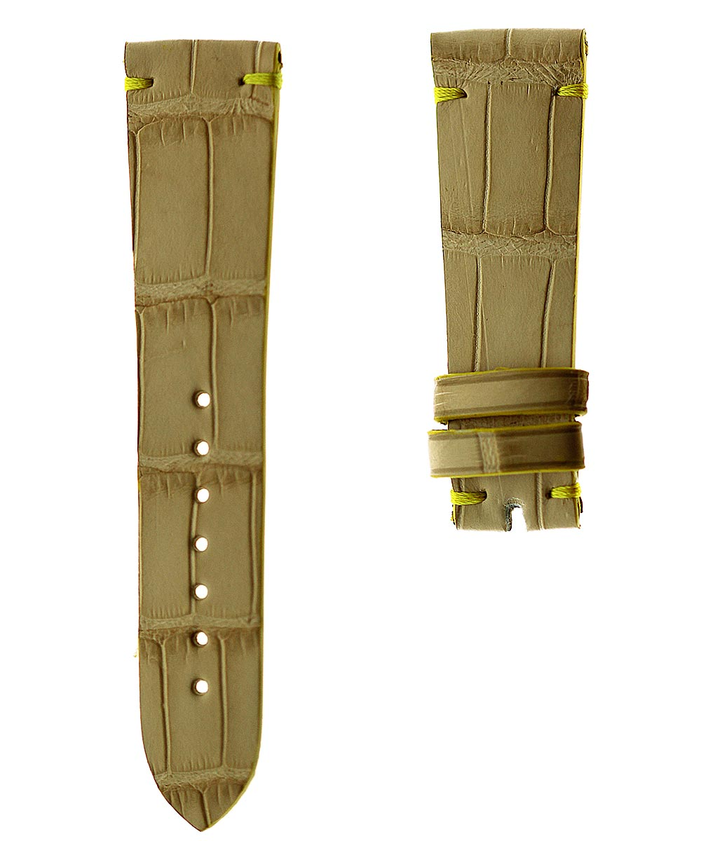 Ready-to-Wear 20mm Beige Alligator leather strap