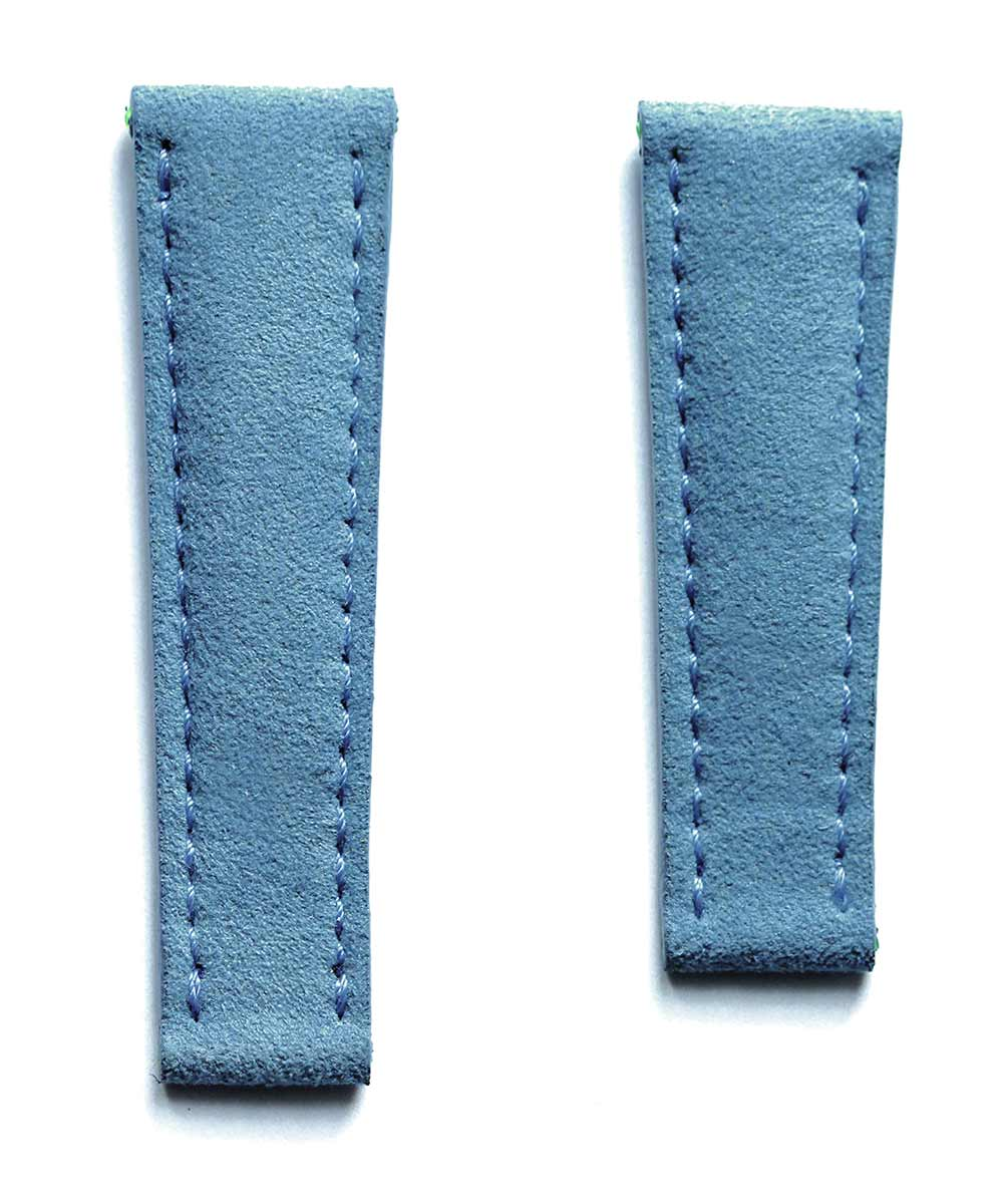 N17-N Spanish Blue Alcantara strap 20mm for Rolex Daytona. Vegan style