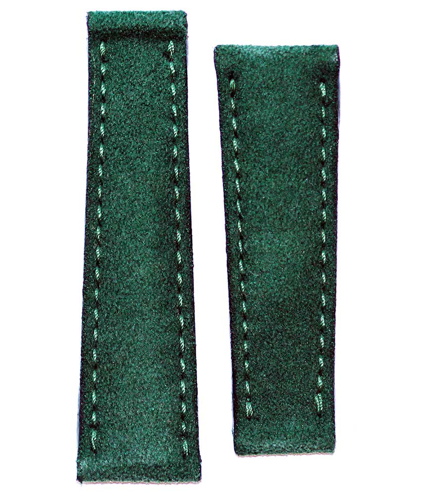 Deep Green Alcantara strap 20mm for Rolex Daytona style timepieces