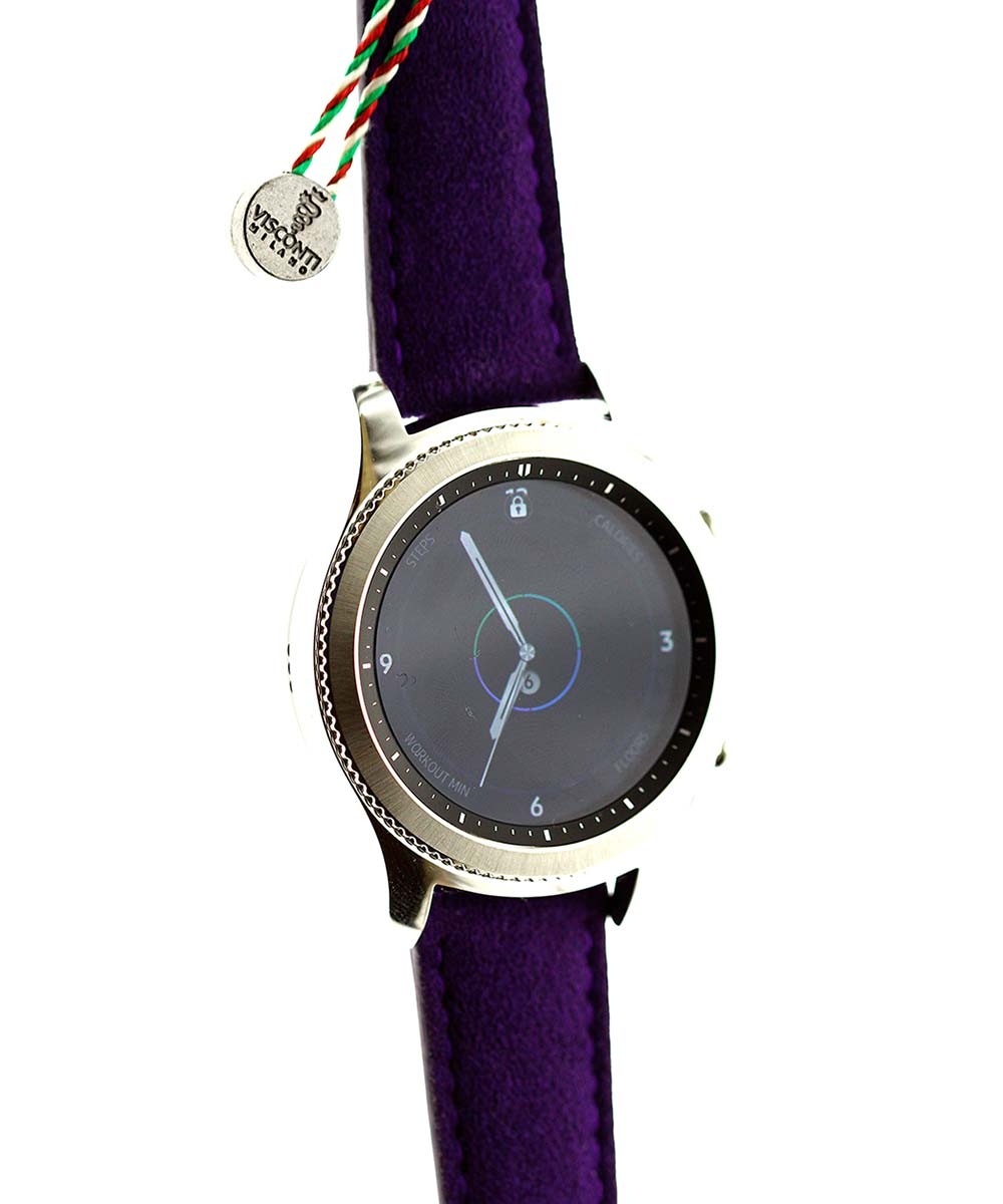 Violet Alcantara strap 22mm / Samsung Galaxy Smart Watch style