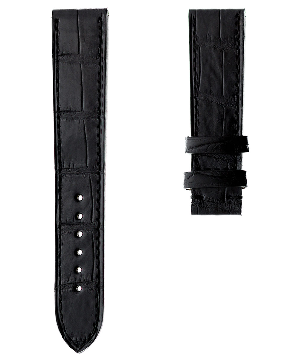 Black Matte Alligator strap 19mm