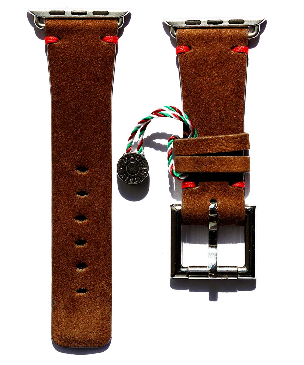 Cigar Brown Kudu leather with Fixed Buckle for 44mm, 42mm case (Apple Watch All Series)