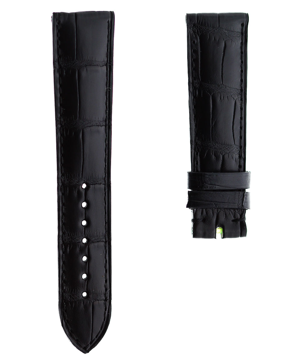 Black Alligator leather strap 21mm General style