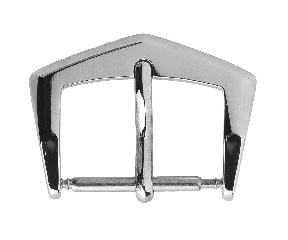 High Grade Stainless Steel Buckle 16mm. White Metal Color