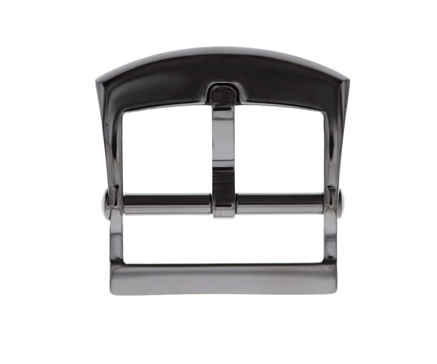 Stainless Steel High Grade Buckle 20mm. Black Gloss