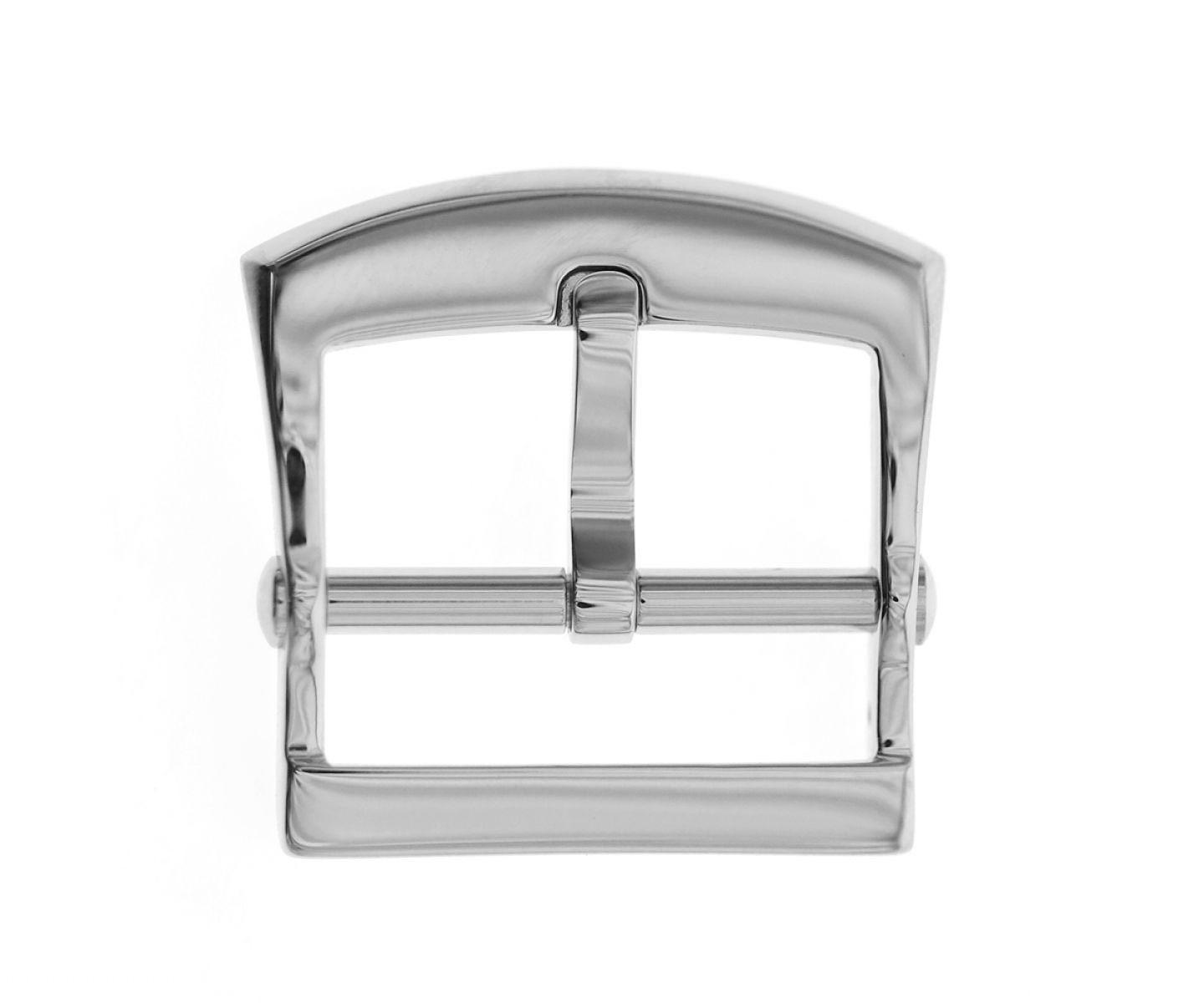Stainless Steel High Grade Buckle 20mm. Silver Gloss