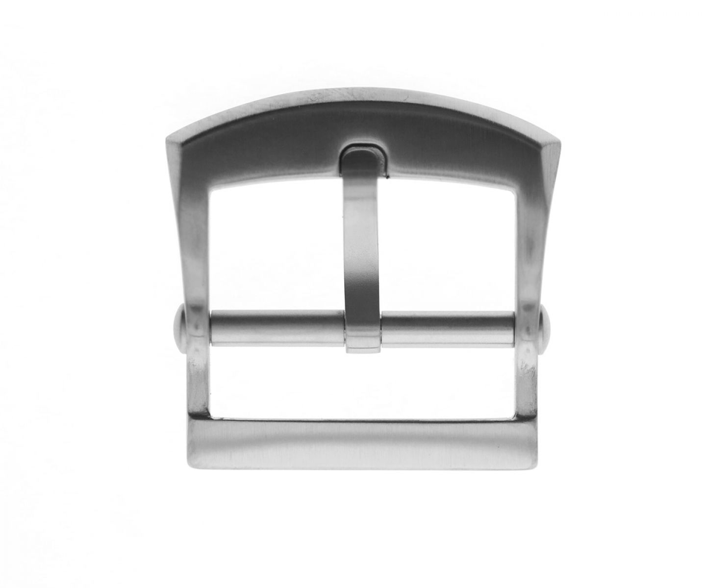 Stainless Steel High Grade Buckle 20mm. Silver Matte