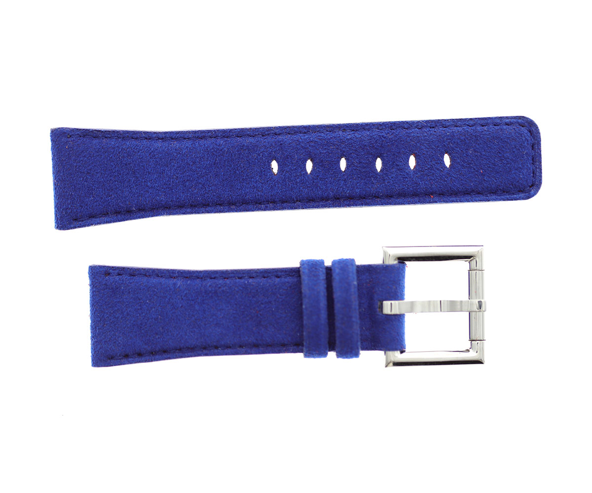Strap 24mm in Sky Blue Alcantara with Fixed Buckle