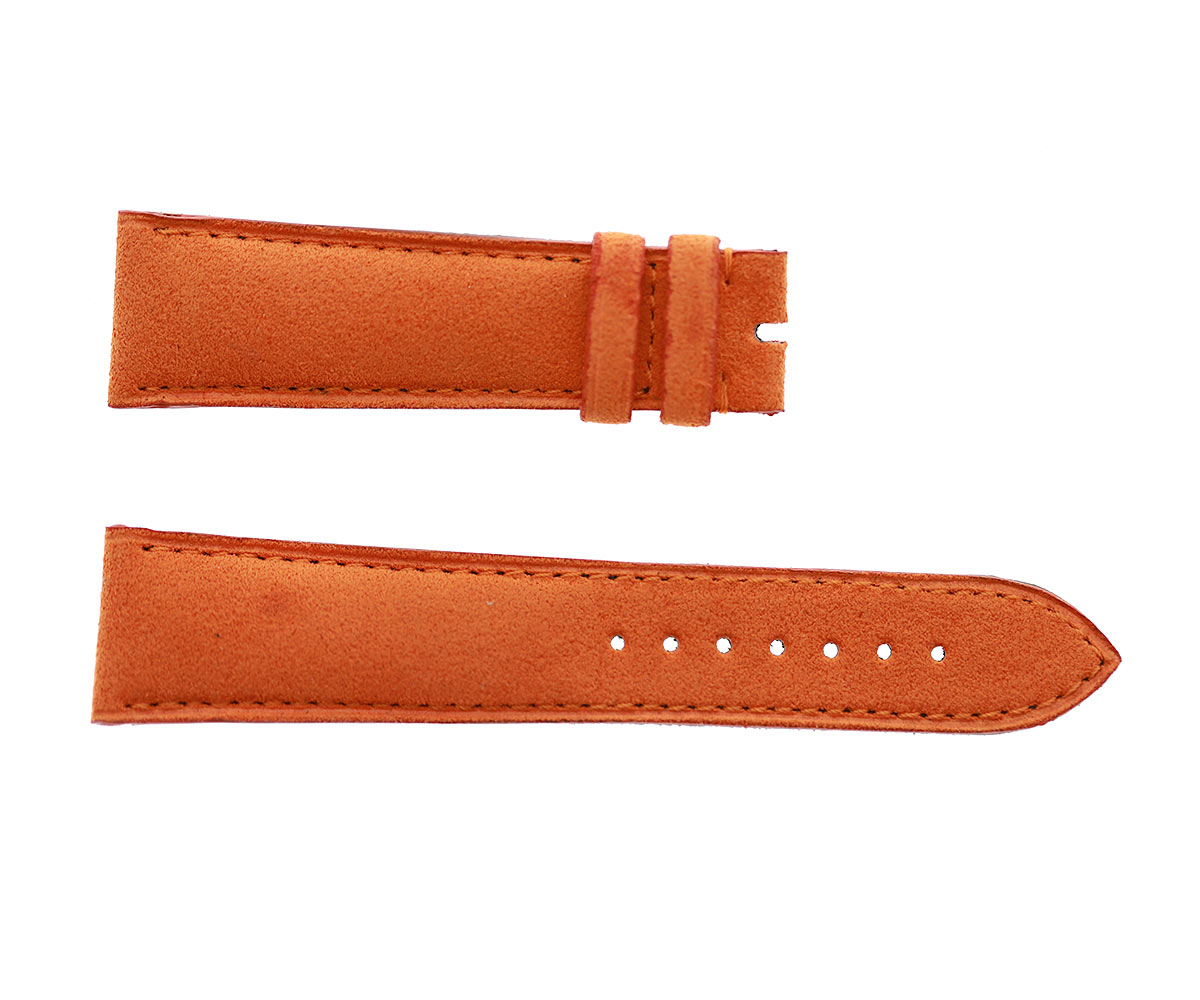 Orange Alcantara strap 22mm Franck Muller Casablanca Style. Vegan