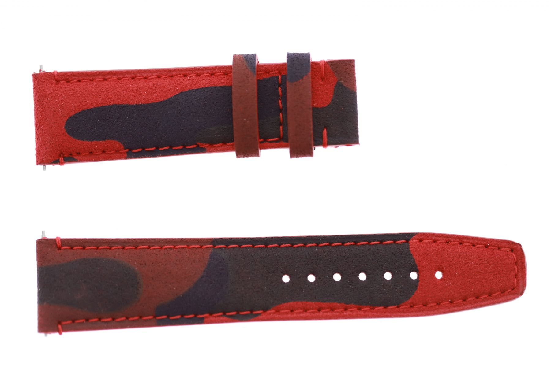 Red Flame Camouflage Alcantara Strap 16mm, 18mm, 19mm, 20mm, 21mm, 22mm, 24mm General style