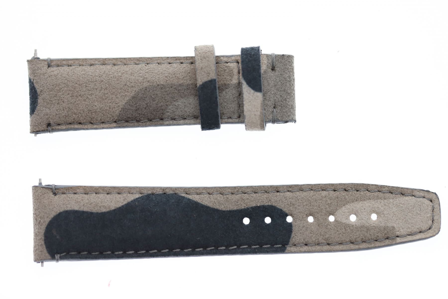 Silver Mountain Grey Camouflage Alcantara Strap 16mm, 18mm, 19mm, 20mm, 21mm, 22mm, 24mm General style