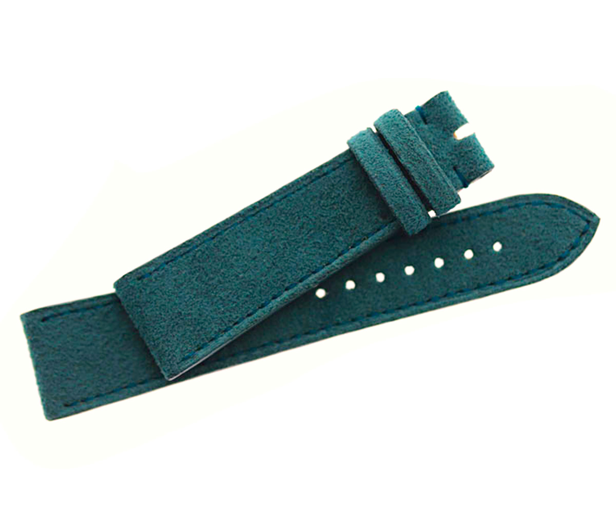 New Indigo Alcantara® strap 20mm Omega Seamaster style. SS Buckle included