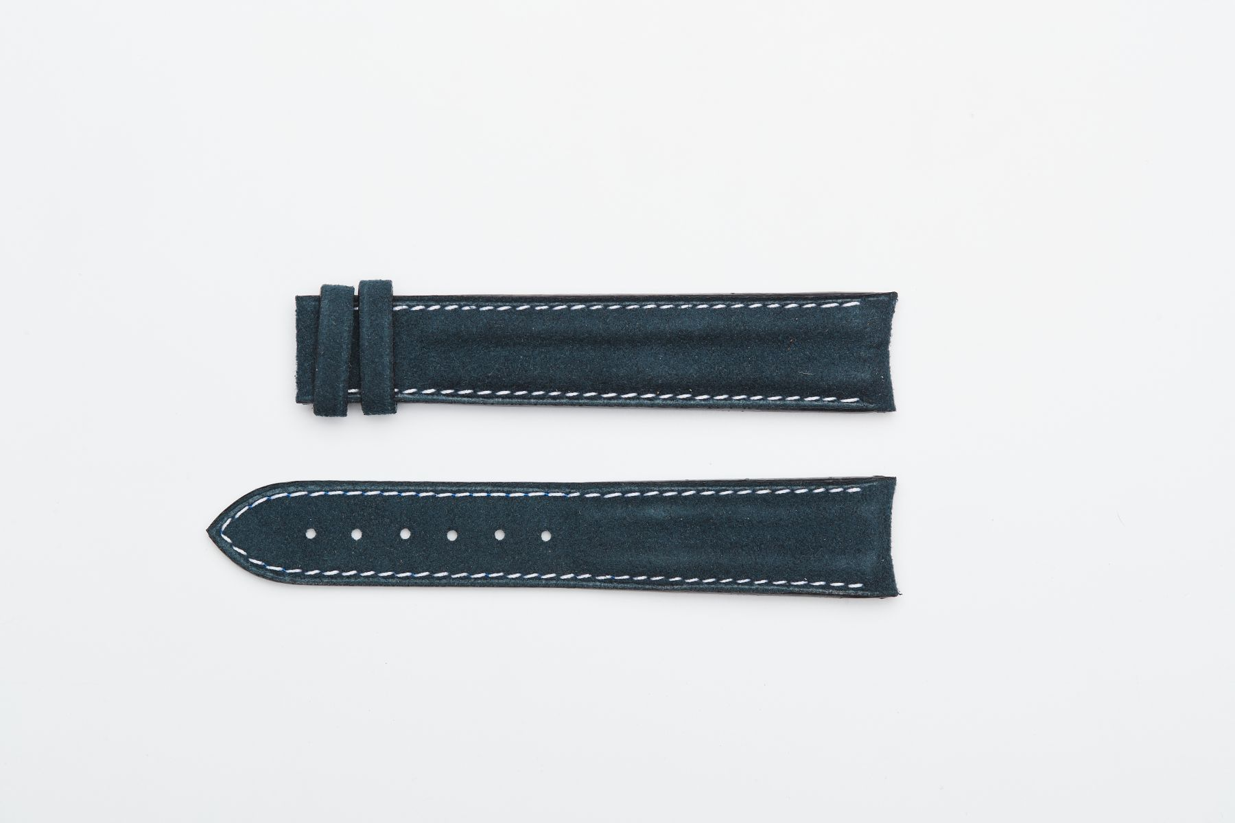 Blue Sea Alcantara® strap 20mm for Omega Speedmaster ' 57 clasp
