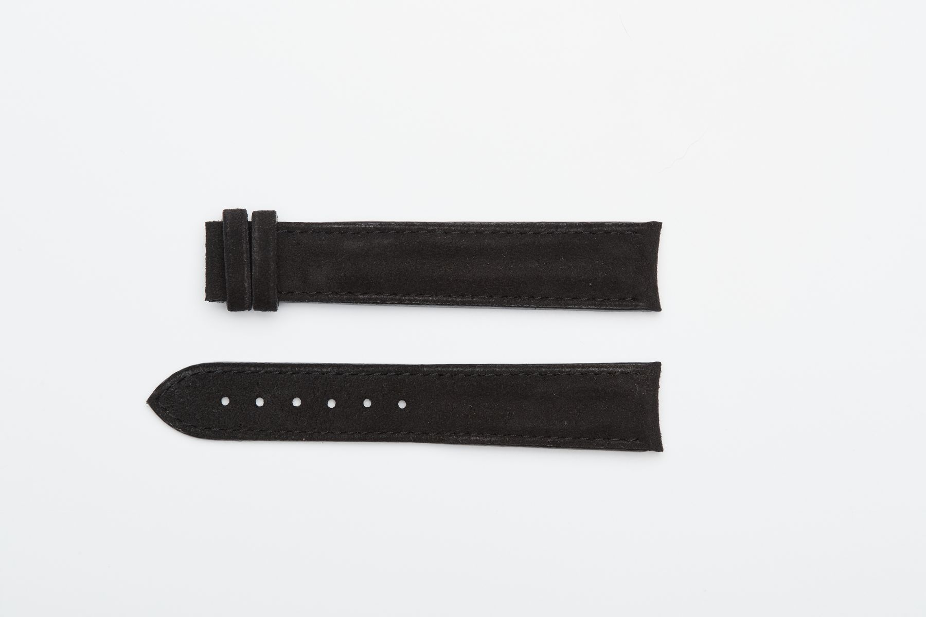 Onyx Black Alcantara® strap 20mm for Omega Speedmaster ' 57 TANG BUCKLE