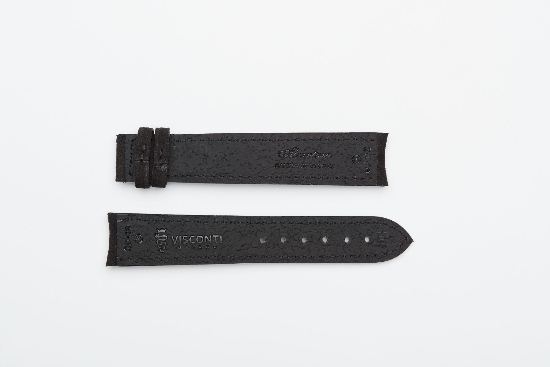 Onyx Black Alcantara® strap 20mm for Omega Speedmaster ' 57 clasp
