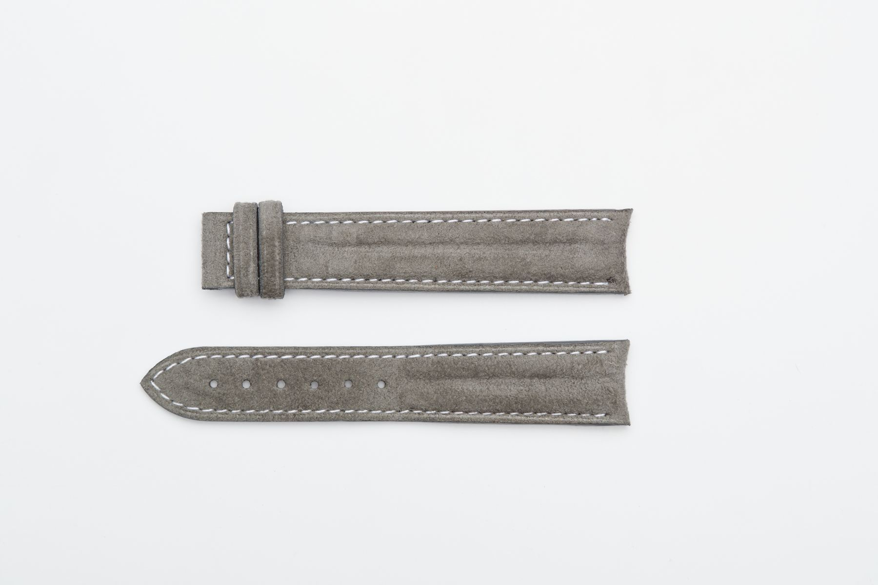Silver Grey Alcantara® strap 20mm for Omega Speedmaster ' 57 clasp