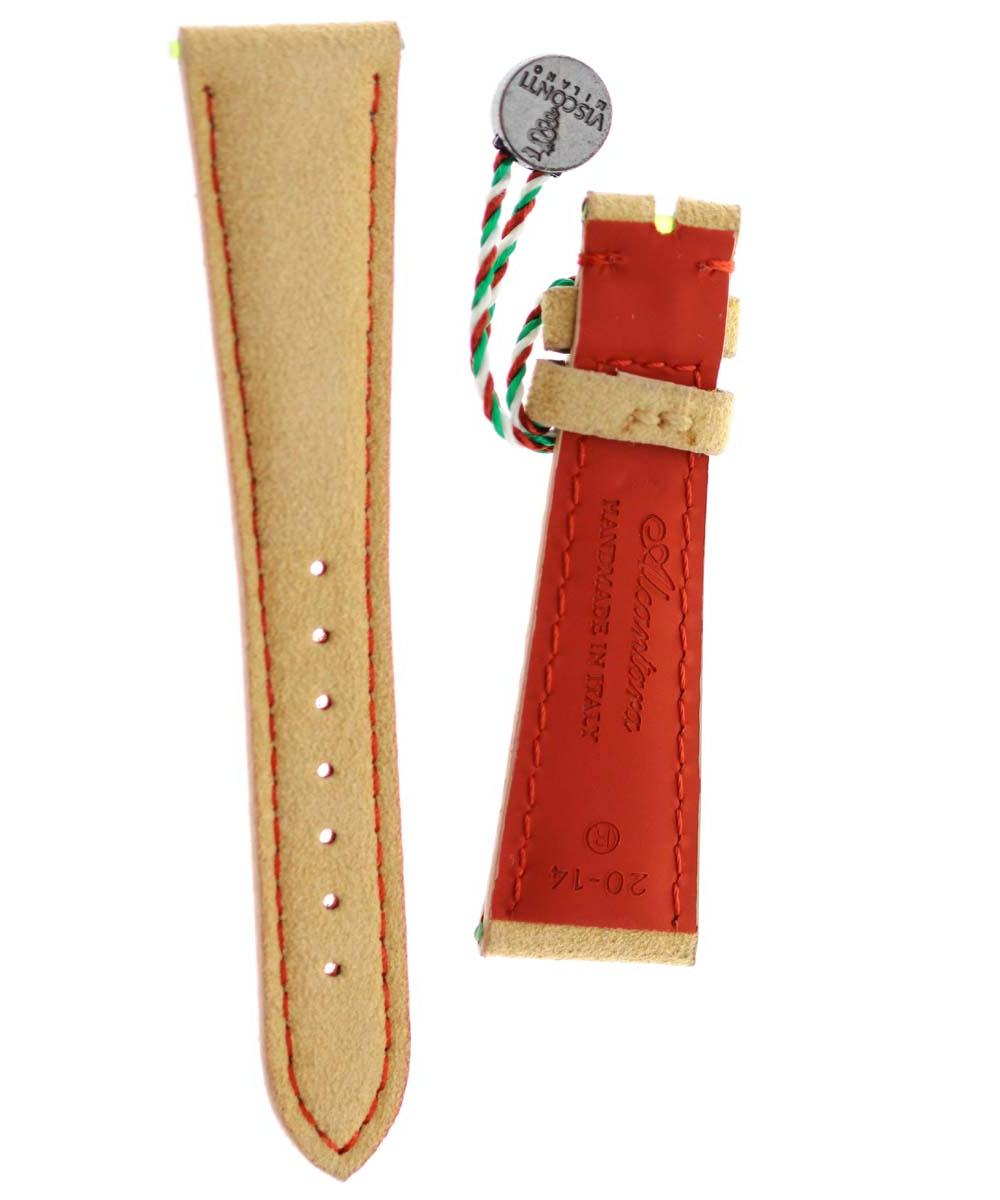 N1 Beige Pink Silk watch strap 18mm, 20mm